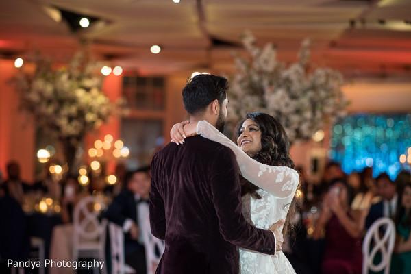 Maharani dancing with Raja at the reception