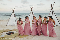By the beach indian bridesmaids capture.