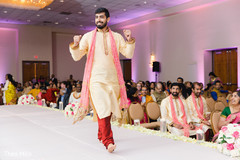 Indian groom making his entrance