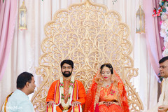 Indian wedding during the ceremony