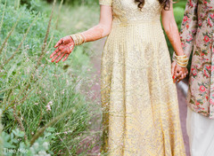 Maharani and Indian groom outdoors