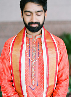 Stylish Indian groom posing