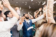 Indian groom having a blast