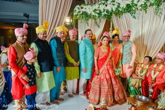 Indian bride with special guests