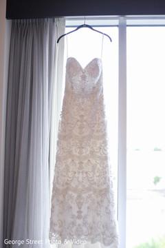 Indian bride's white wedding dress