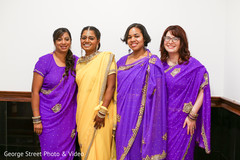 Maharani posing with the lovely bridesmaids