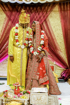 Indian couple at their wedding ceremony