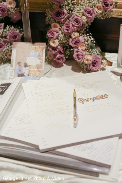 Indian wedding reception guest book