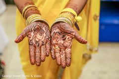 Unique indian bride henna art