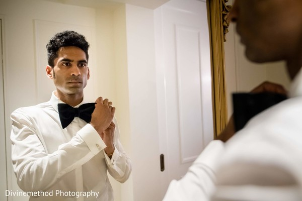 Raja getting ready for the ceremony