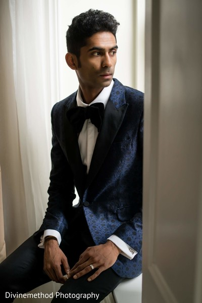 Portrait of Indian groom looking amazing