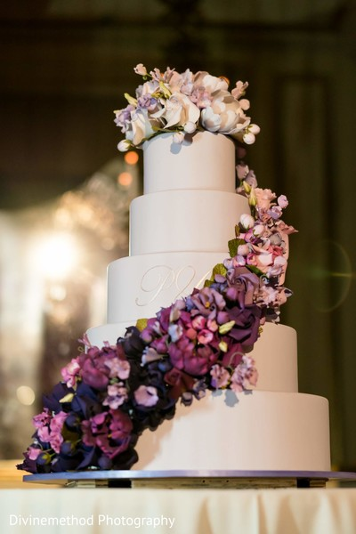 Delicious Indian wedding cake ready for guests