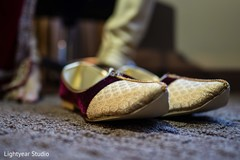 Shoes used by Indian groom at the ceremony
