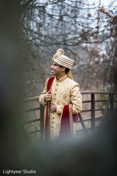 Indian groom looking great for pictures