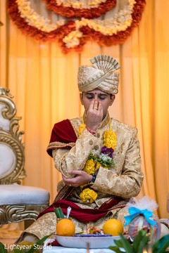 Indian groom's emotional moment