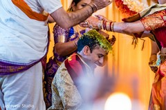 Indian groom during the rituals