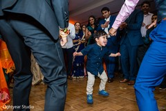 Kid having a great time during reception