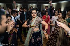Indian groom having a terrific time