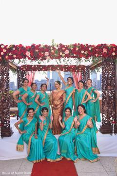 Gorgeous capture of Indian bridesmaids
