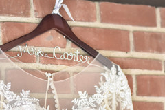 Indian bridal white dress personalized hanger.