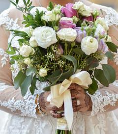 Closeup capture of maharani's bouquet.
