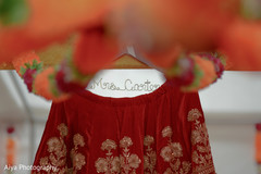 Marvelous Indian bridal personalized hanger.