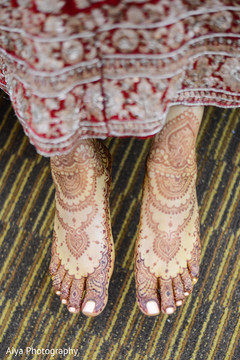 Marvelous henna art on maharani's feet.