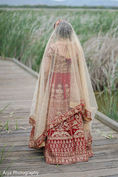 Indian bride waiting for her groom.