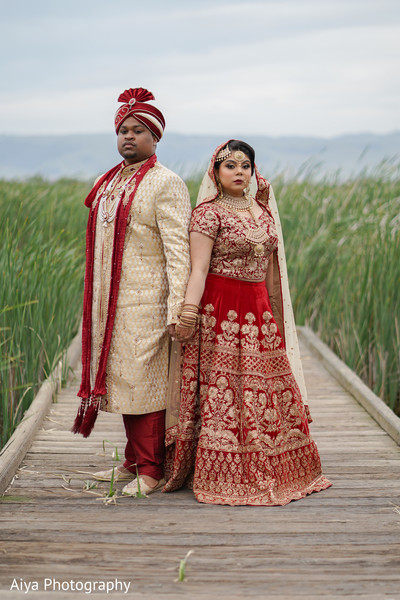 Indian lovebirds outdoor photo session.