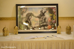 Incredible Indian wedding guest book table.
