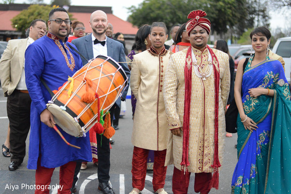 Indian groom at his baraat celebration.