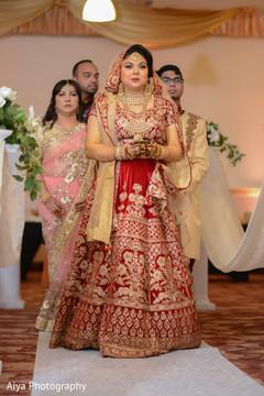 Maharani making her entrance to wedding ceremony.