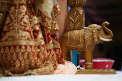 Lovely Indian wedding ceremony elephant decor.