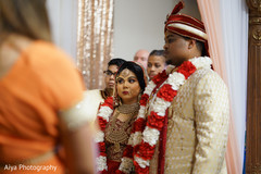 See this lovely Indian couple at their ceremony .