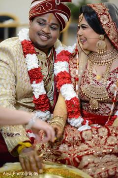 Indian couple at their kanyadaan ritual.