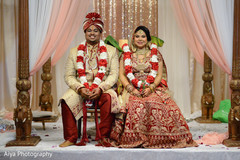 Lovely Indian  bride and groom photo.