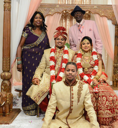 Dazzling indian couple with  family portrait