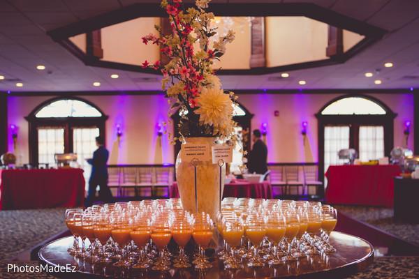 Floral arrangement details of the venue