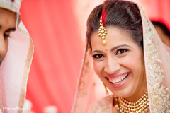 Indian bride looking at the camera