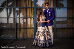 Lovely Indian couple posing outdoors.