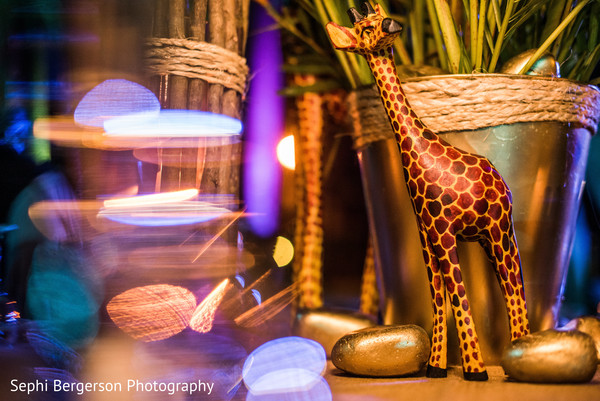 Marvelous Indian sangeet giraffe decor.
