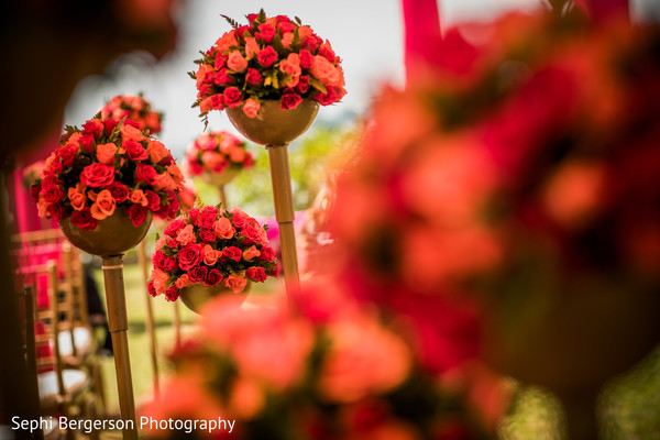 Stunning Indian pre-wedding flowers decoration.