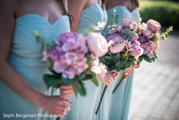 Marvelous Indian Bridesmaids ceremony bouquet.