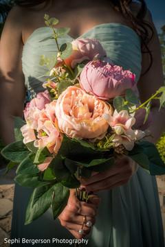 Indian bridesmaids gorgeous bouquet.
