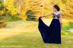 Enchanting Indian bride outdoors capture.