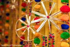 Incredible Indian sangeet stage decorations.