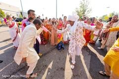 Incredible Indian groom's baraat dance capture.
