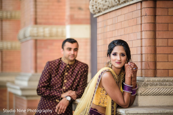Indian bride looking stunning outdoors