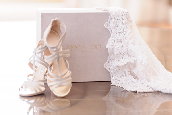 Marvelous capture of Indian bridal shoes and handkerchief.