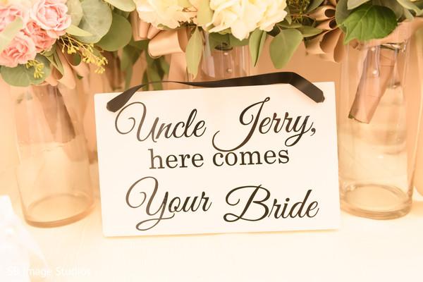 Closeup capture of Indian wedding ceremony sign.